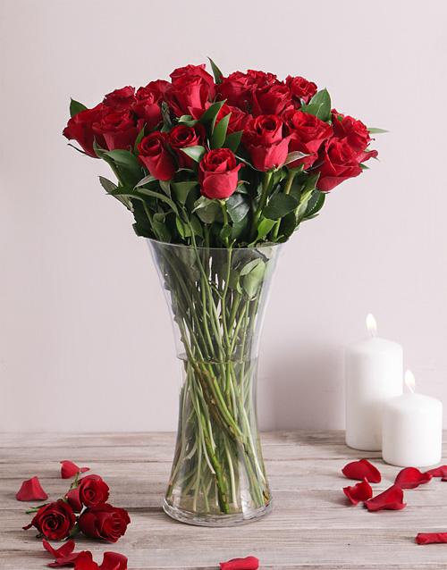 roses Scarlet Love Rose Vase