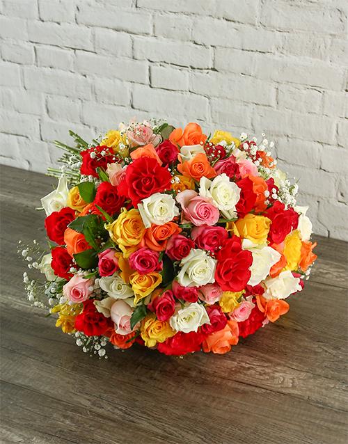 roses Summer Splash Rose Bouquet