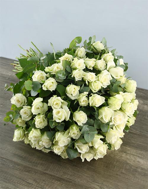 roses White Elegance Rose Bouquet