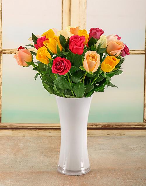 roses Bright Summer Day Arrangement