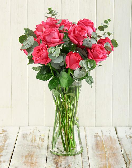roses Pink Romance Arrangement