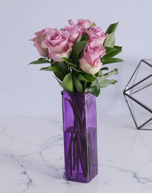 roses Precious Light Purple Arrangement