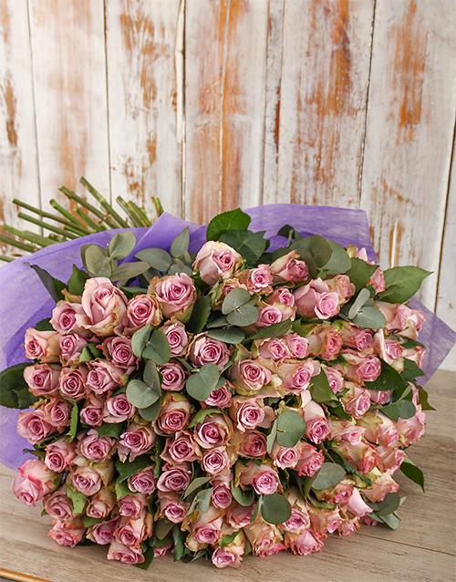 roses Light Purple Rain Bouquet