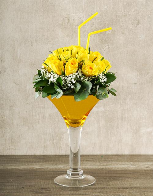 roses Elegant Yellow Rose Cocktail