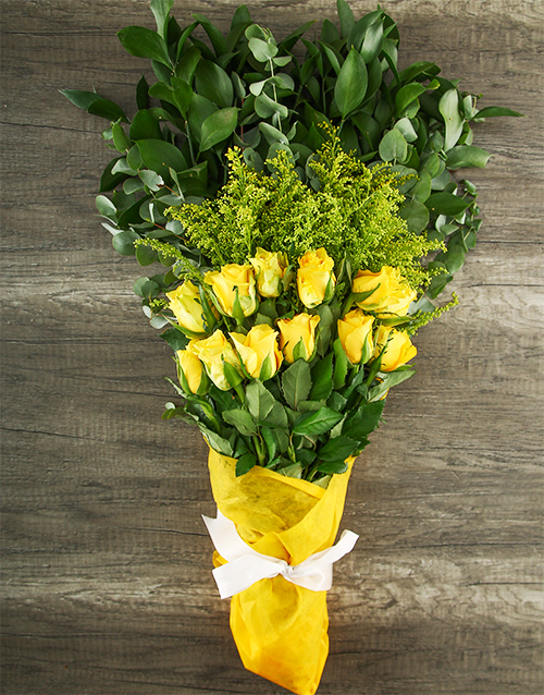roses Mystical Yellow Rose Bouquet
