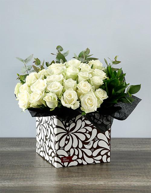 roses Craft Box of White