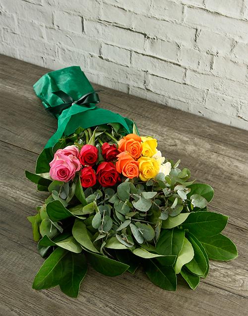 roses Mystical Rainbow Roses in Tissue Paper