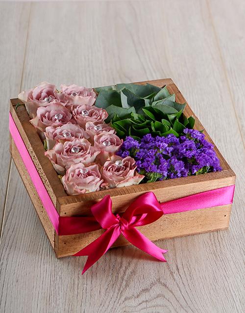 roses Lilac Rose Crate