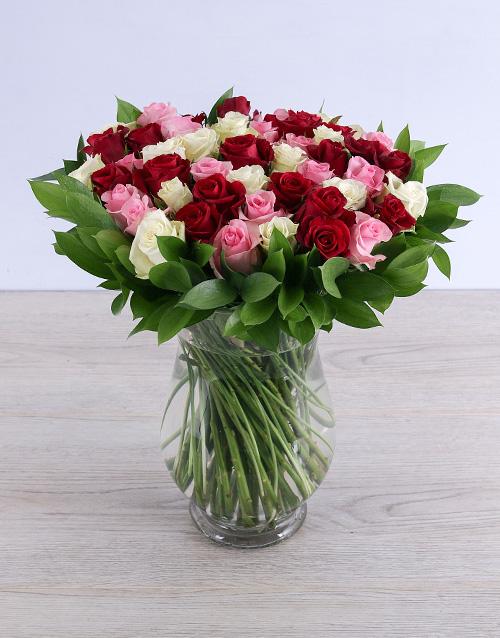 roses Luscious Mixed Rose Arrangement
