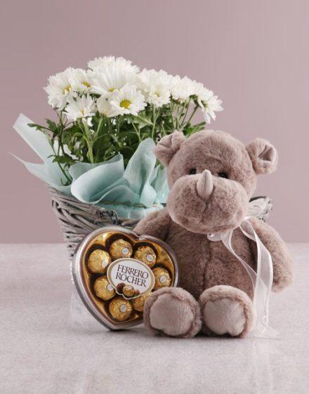 birthday Wondrous Chrysanthemum Basket