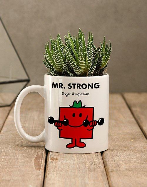 birthday Mr Strong Succulent Mug