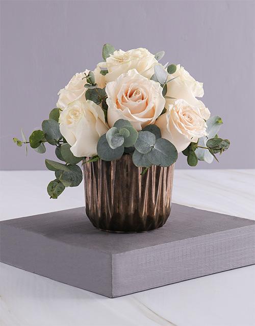 roses Cream Roses in Bronze