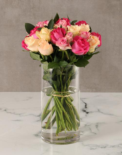 roses Pretty in Pink Celebration Arrangement