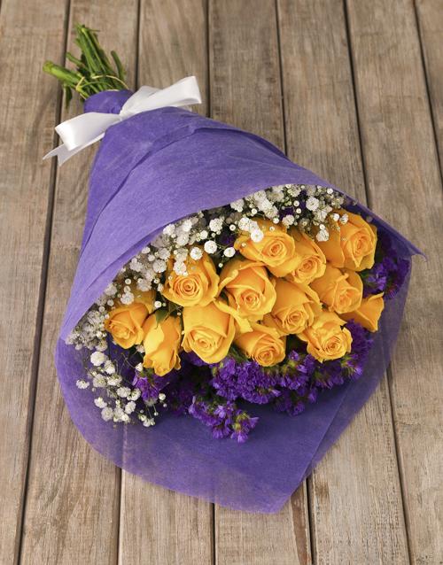 roses Elegant Yellow Rose Bouquet