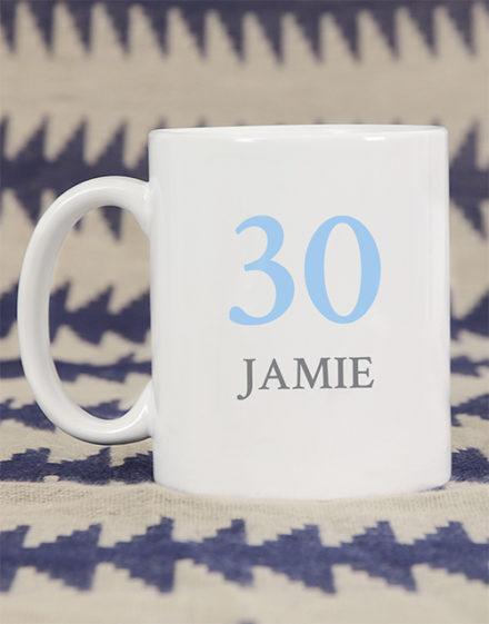 birthday Personalised Number Birthday Mug