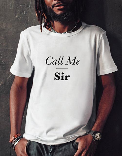 birthday Personalised Call Me T Shirt