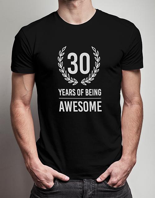 birthday Personalised Years of Being T Shirt