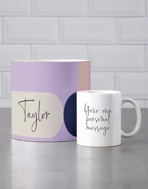 birthday Personalised Modernist Mug Tube