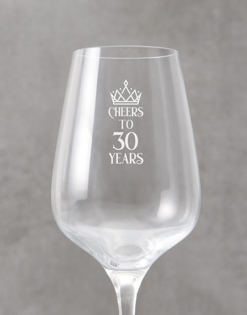 birthday Personalised Anniversary Wine Glass