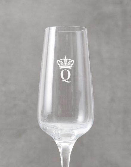 birthday Personalised Crown Monogram Champagne Flute