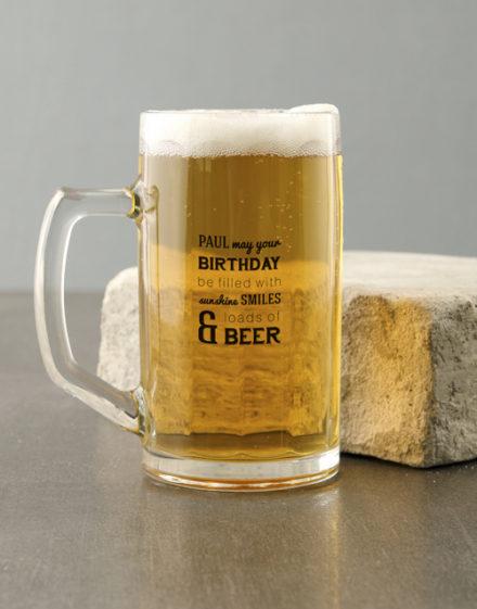 birthday Personalised Birthday Sunshine Beer Mug