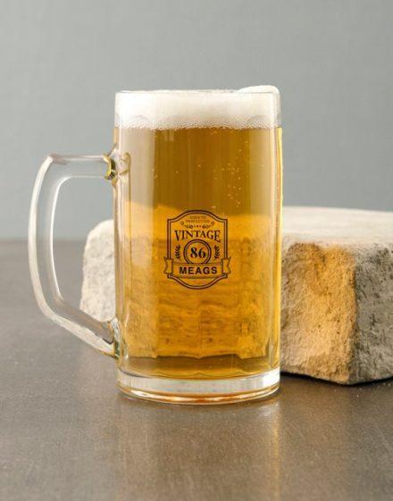 birthday Personalised Vintage Beer Mug