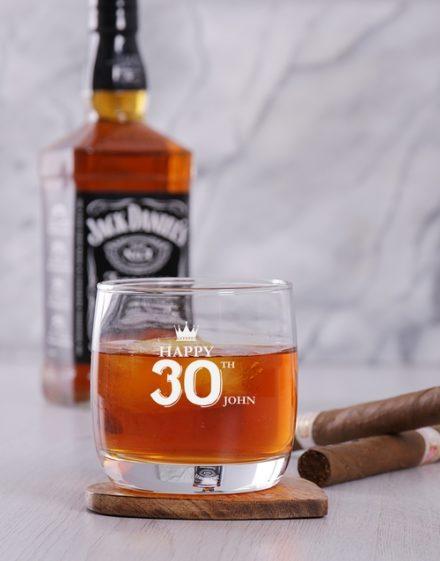 birthday Personalised Make a Wish Whiskey Glass