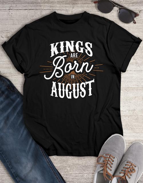 birthday Personalised Kings Shirt for Men
