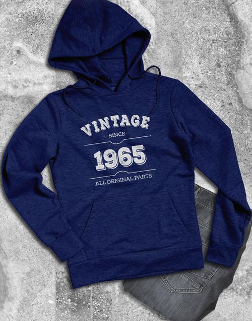birthday Personalised Vintage Mens Hoodie