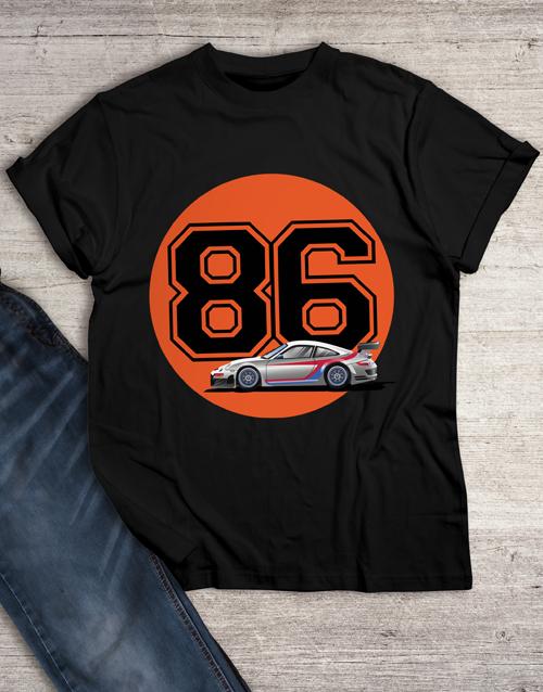 birthday Personalised Year Race Car T Shirt