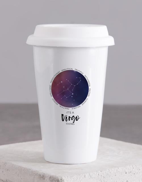 birthday Personalised Star Sign Ceramic Travel Mug
