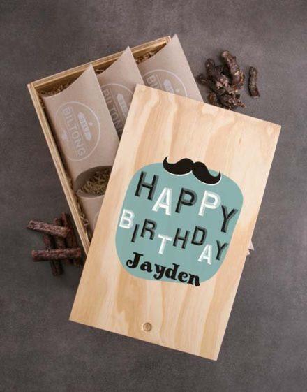 birthday Personalised Biltong Birthday Crate