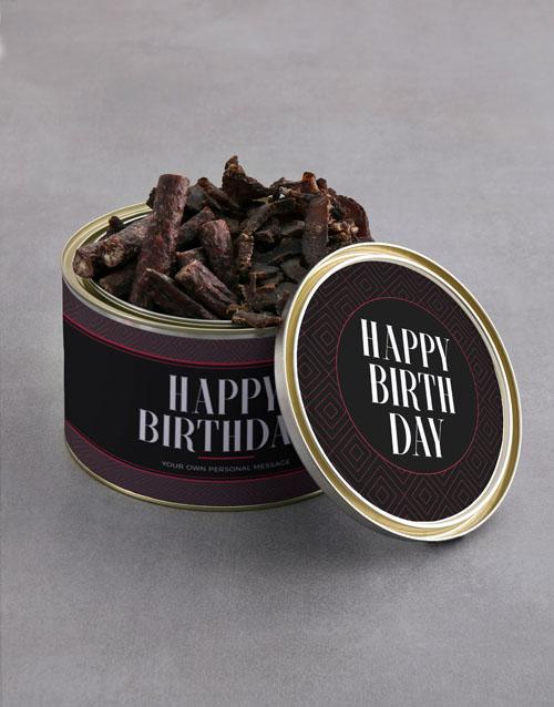 birthday Personalised Birthday Biltong Tin With Chocs