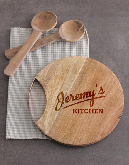 birthday Personalised Kitchen Round Chopping Board