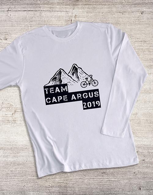 birthday Personalised Bike Team Long Sleeve T Shirt