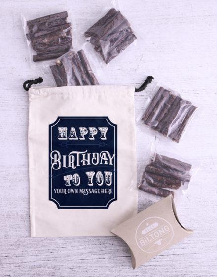 birthday Personalised Birthday Biltong Bag