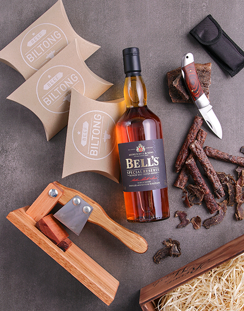 birthday Scotch and Biltong Crate