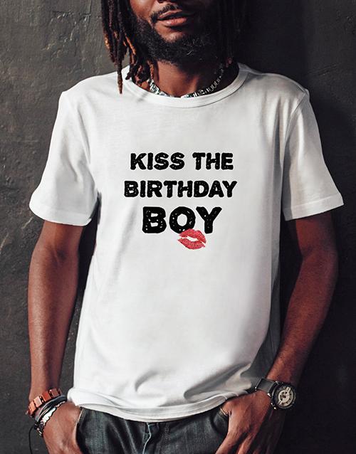 birthday Kiss the Birthday Boy T Shirt