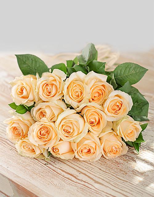 roses Cream Roses in Craft Paper