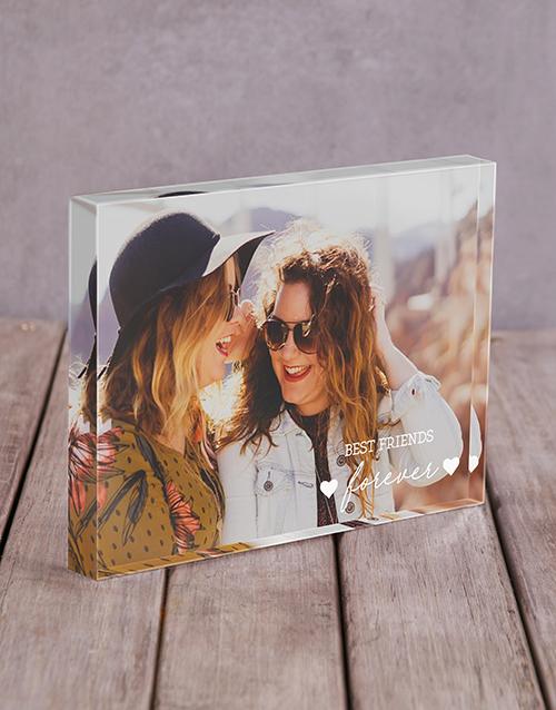 Personalised Best Friends Acrylic Block