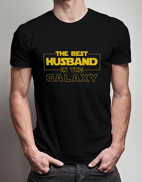 Personalised Best Husband, Black Tshirt