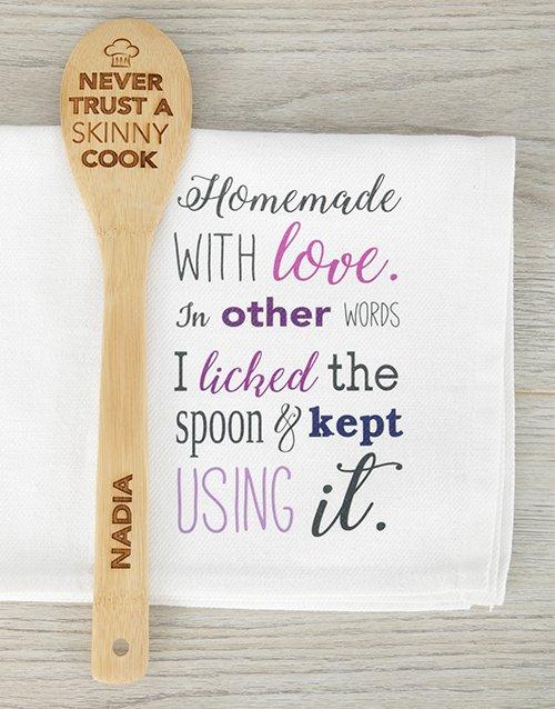 Personalised Skinny Chef Spoon