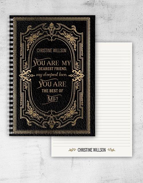 Personalised Vintage Love Quote Notebook