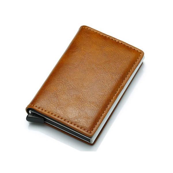 Slim Pop-Up Leather Card Wallet