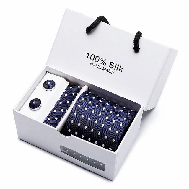 Silk Blue 4 Piece Tie & Cufflink Set