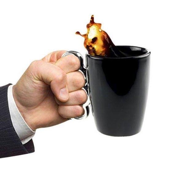 Knuckle Duster Mug (Black)